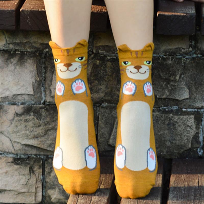 Fashion-Women-Girls-Cute-3D-Animal-Cartoon-Cat-Printed-Casual-Ankle-high-Socks miniature 23
