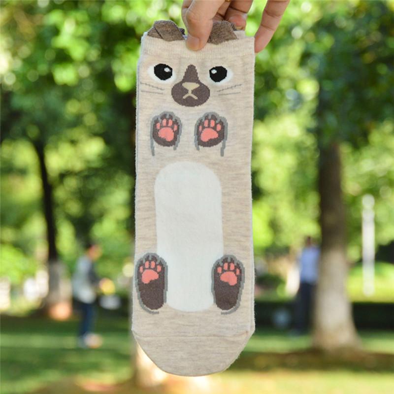 Fashion-Women-Girls-Cute-3D-Animal-Cartoon-Cat-Printed-Casual-Ankle-high-Socks miniature 40