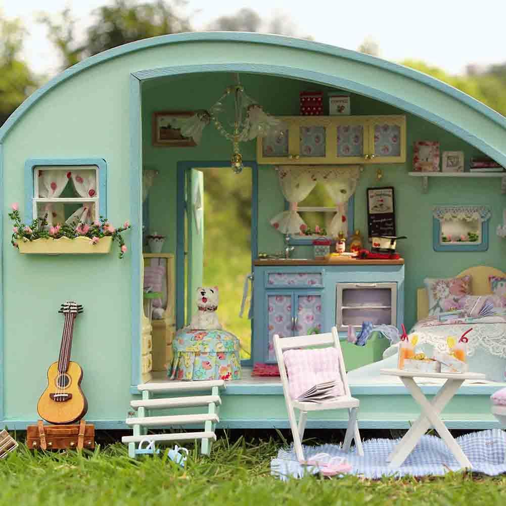 Diy Christmas Light Controller Kit: New DIY Time Travel Dollhouse Cute Caravan Doll House