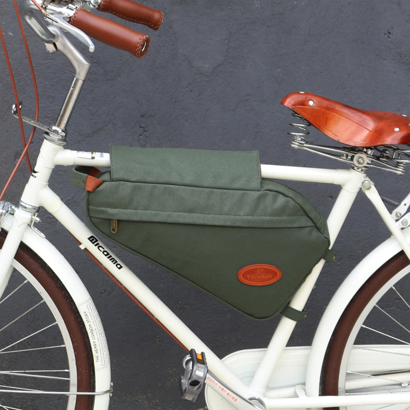 Cycling Bike Bicycle Top Tube Front Frame Triangle Bag Pouch Pannier Pouch Pack