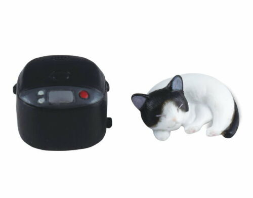Z124 Epoch Capsule Animal Fixed Position of I Black Cat Neko /& Fan Heater Figure