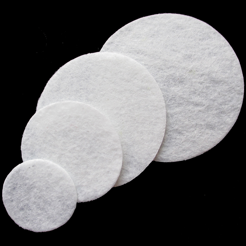 40 X40mm aprox FELT CIRCLES FOR DIY HAIRCLIPS IN WHITE