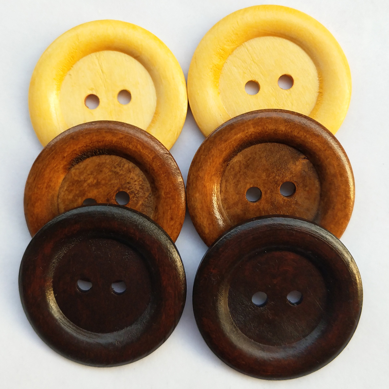 20pcs-Wooden-Wood-Button-Big-50MM-Round-Wine-Coffee-Brown-Craft-Sewing-Coat-Hat thumbnail 7