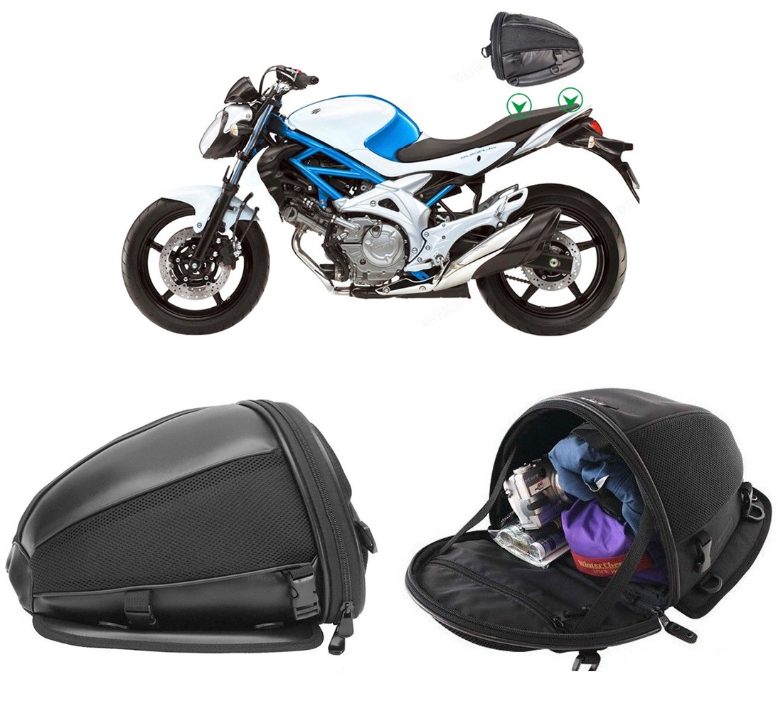 1d3e04f54056 Details about Motorcycle Bike Sports Waterproof Back Seat Carry Bag Luggage  Tail Bag Saddlebag