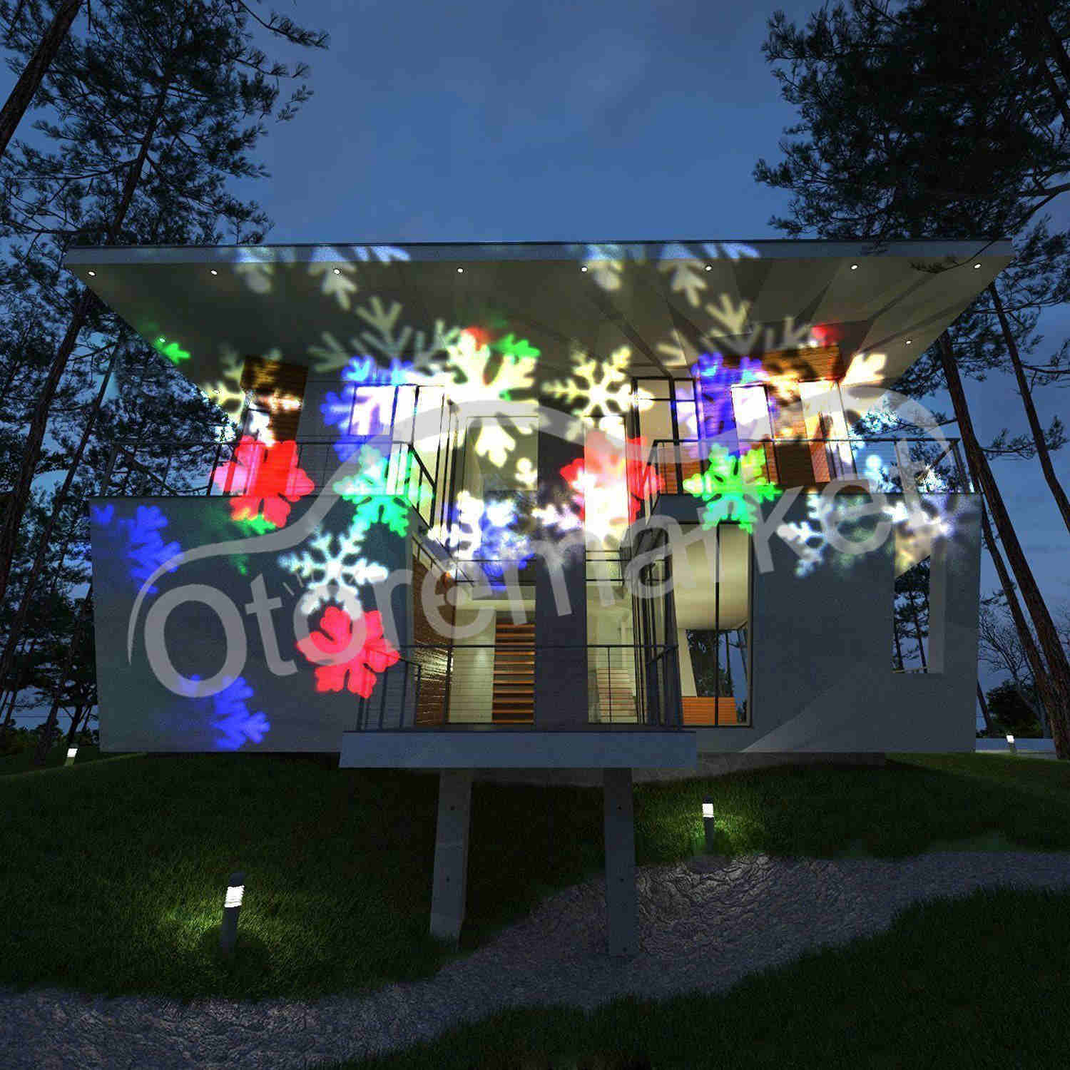 moving snowflake led laser light projector christmas home rotate party decor usa 717880839186 ebay