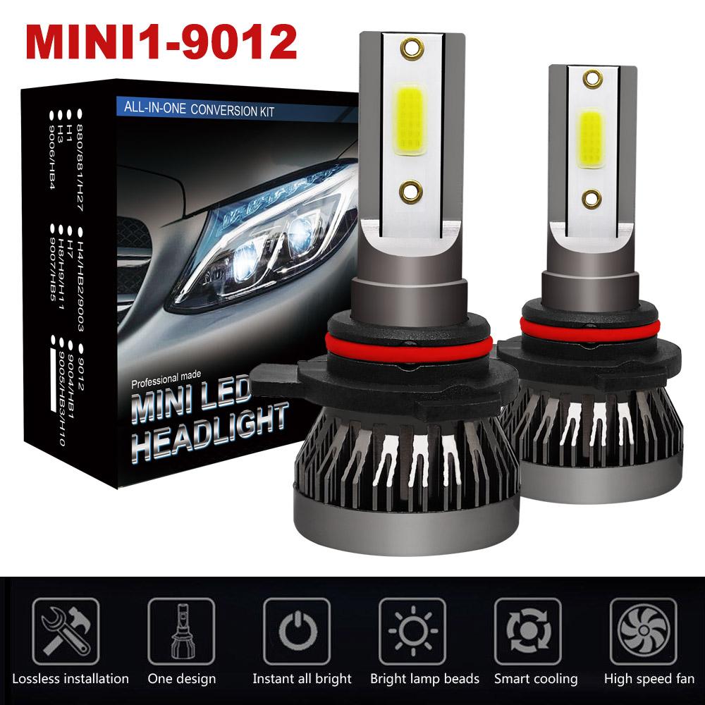 2Pcs HB5 9007 LED 1300W 195000LM Headlight Conversion Bulbs Kit HIGH LOW Beam