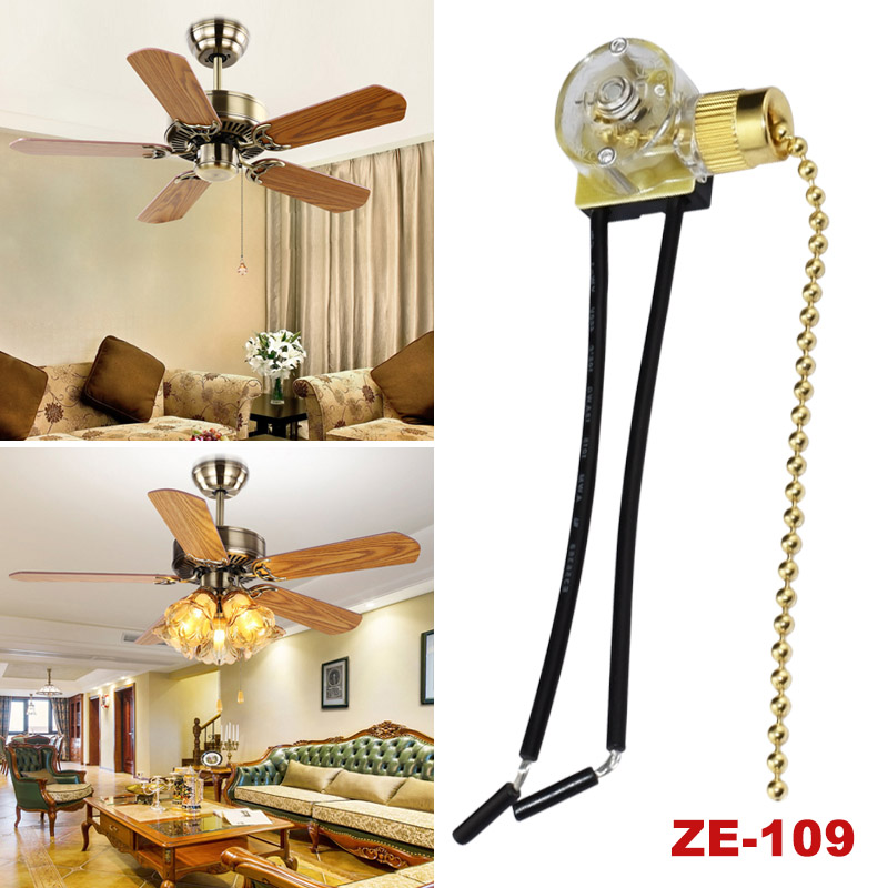Details About Zing Ear Ze 109 Pull Switch Cord Chain Light Lamp Ceiling Fan Brass