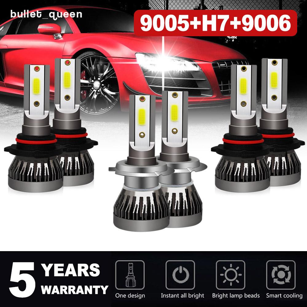 9005 9006 LED Combo Headlight High /& Low Beam For 2003-2005 Chevrolet Silverado