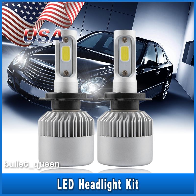 H7 4 sides LED Headlight for Hyundai Santa Fe Sonata Elantra Conversion Kit Lamp