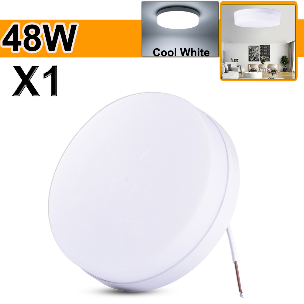Dimmable LED Ceiling Panel Light Flash Mount Lamp 32W 48W Bedroom Downlight BR