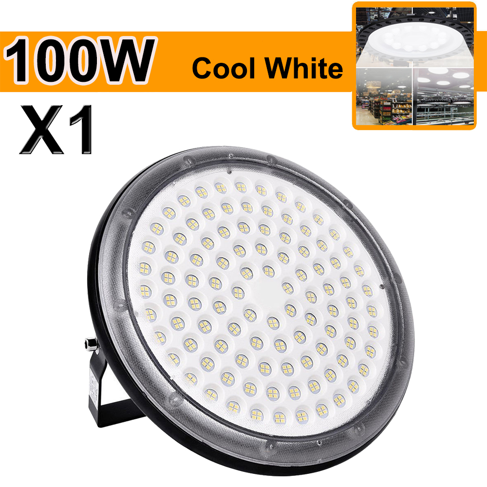 Details About 100w Ufo Led High Bay Light Ip67 Floodlight Outdoor Warehouse Lights