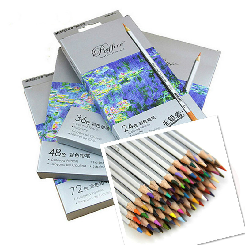 72 Color Oil Base Marco Fine Art Non Toxic Pencils Set For Artist Drawing Sketch