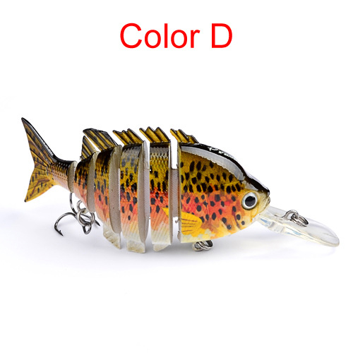 "4.1/"" Multi Jointed Bass Striper Crappie Fishing Bait Swimbait Lure Life-like"