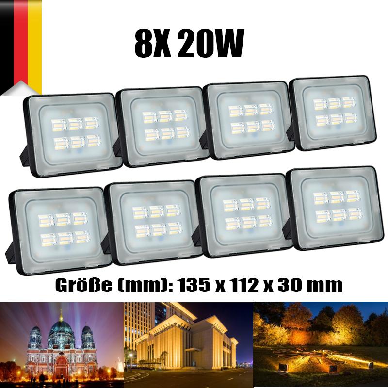 2X 100W Warmweiß D5 LED Fluter Außen Strahler Lampe Flutlicht Scheinwerfer IP65