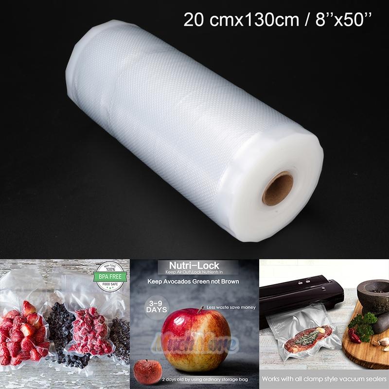 Food Saver Vacuum Sealer Bags Rolls Embossed FoodSaver Storage Bags 3 Sizes