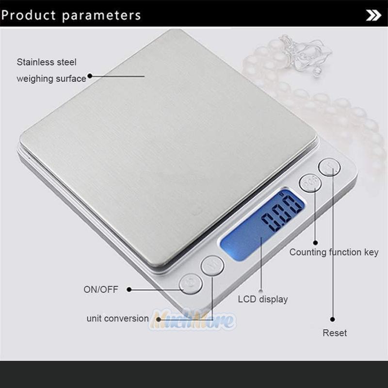 Digital Scale 500g001g Jewelry Gold Silver Coin Grain Gram Pocket