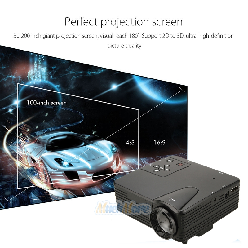 Home Cinema Theater Multimedia Led Lcd Projector Hd 1080p: New 1080P Full HD LED Projector Home Cinema Theater