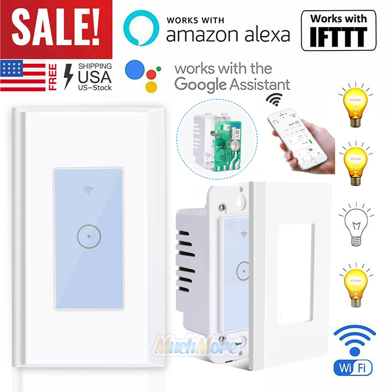 Details about 15A WIFI Smart Light Touch Switch Remote for Alexa Google  IFTTT Voice Control US