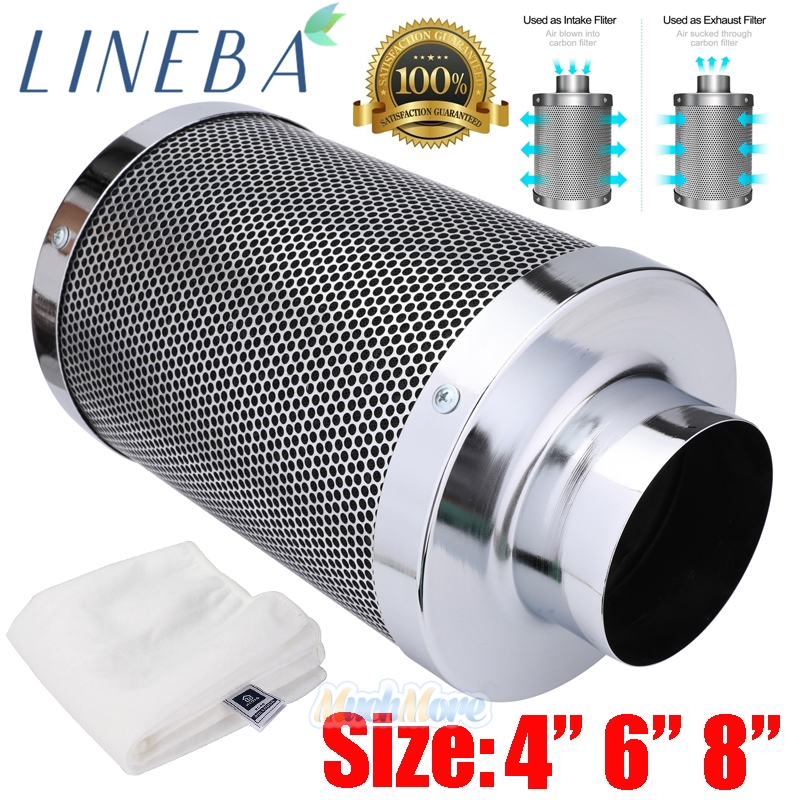 6 Inch Air Carbon Filter 16 Inch Length Odor Control Charcoal Filter Prefilte...
