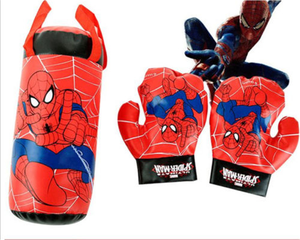 Spiderman Toys For Kids : Kids toys pvc spiderman punching bag empty and boxing gloves