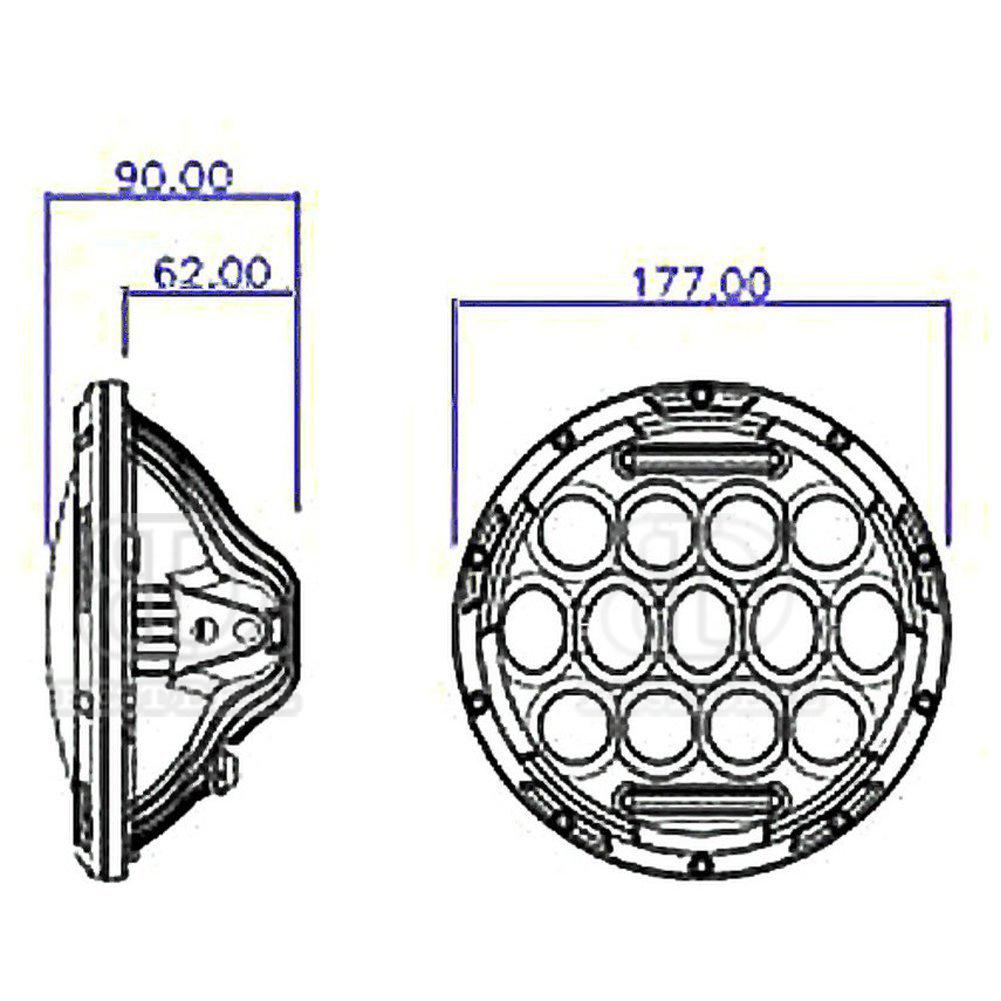 7 u0026quot  75w round led headlight bracket dual beam splitter harness for harley touring