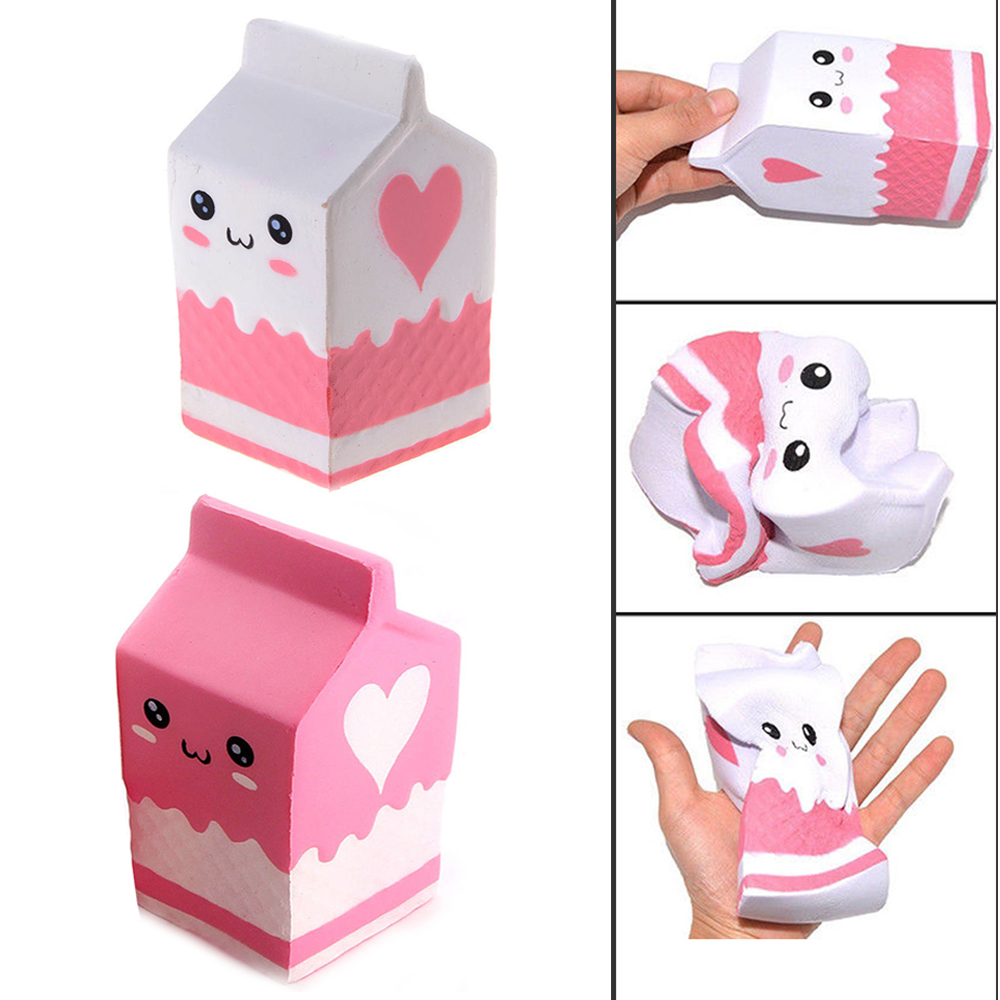 Carnival Toy Box Pink: Milk Carton Box Jumbo Soft Slow Rising Toy Scented White