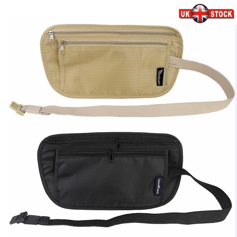 Hidden Security Bag Travel Handy Hiking Sport Passport Pack Waist Belt Zip Pouch