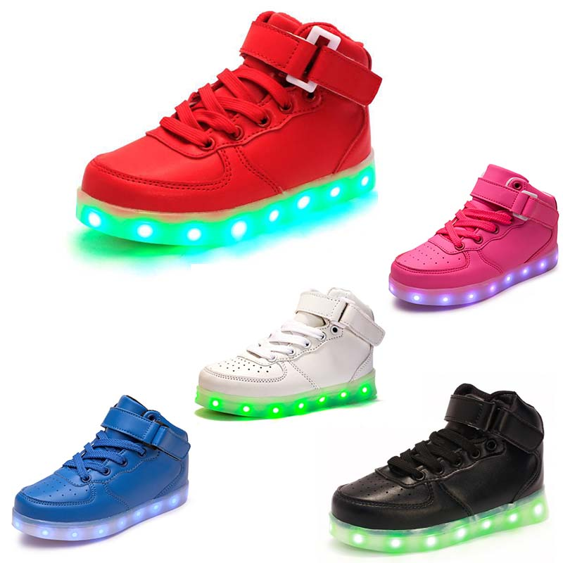 Girls Trainers LED Light Up Shoes