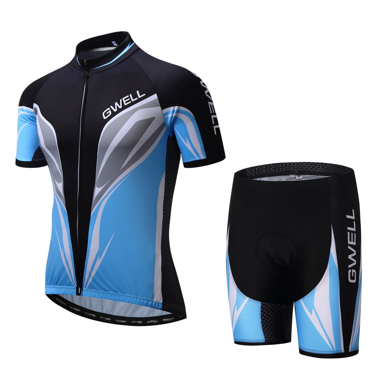 gwell herren radtrikot set fahrrad trikot kurzarm. Black Bedroom Furniture Sets. Home Design Ideas