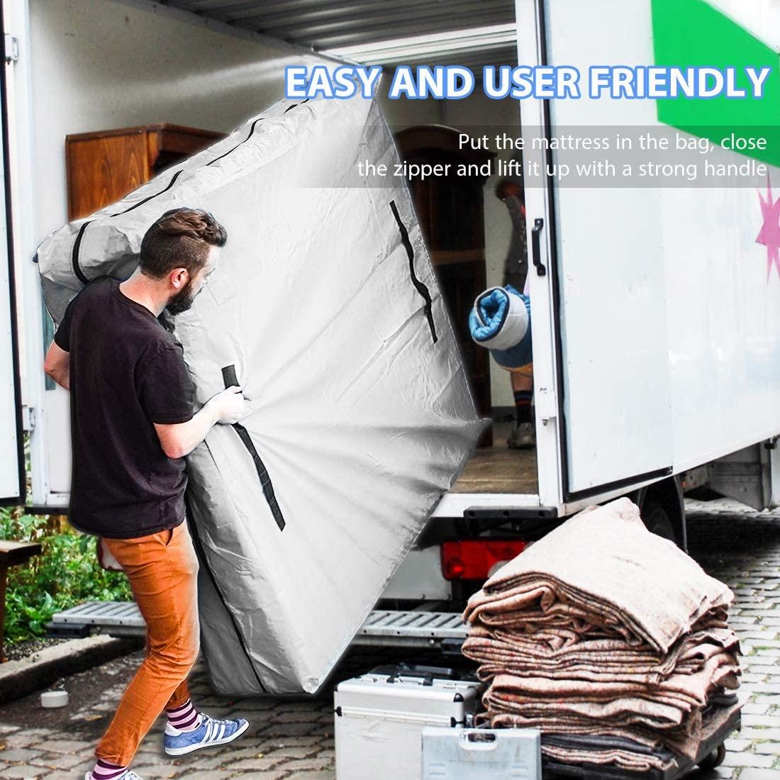 VIVOHOME Waterproof Reusable Mattress Bag Cover 8 Handles ...