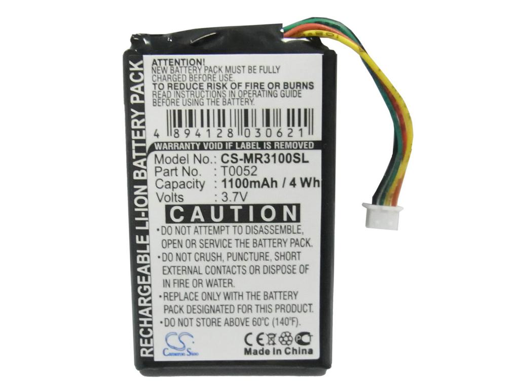 Replacement GPS Navigation Battery Part No.T0052 for Magellan Maestro 3000,Maestro 3200,Maestro 3210,Maestro 3220,Maestro 3225,1100mAh Li-ion