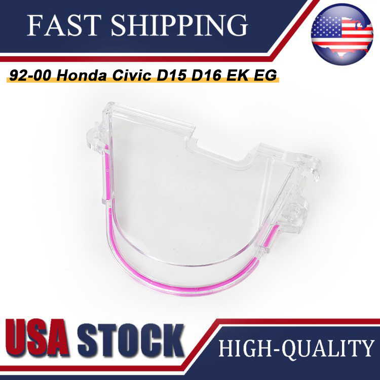CLEAR CAM GEAR COVER TIMING BELT COVER TURBO CAM PULLEY FOR HONDA 96-00 EK