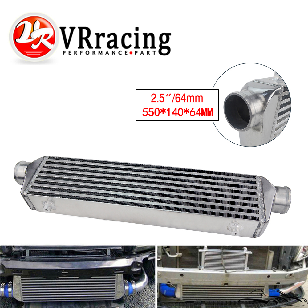 """Universal Bar/&Plate Front Mount Intercooler 550*140*64 FMIC 2.5/"""" In//Outlet"""