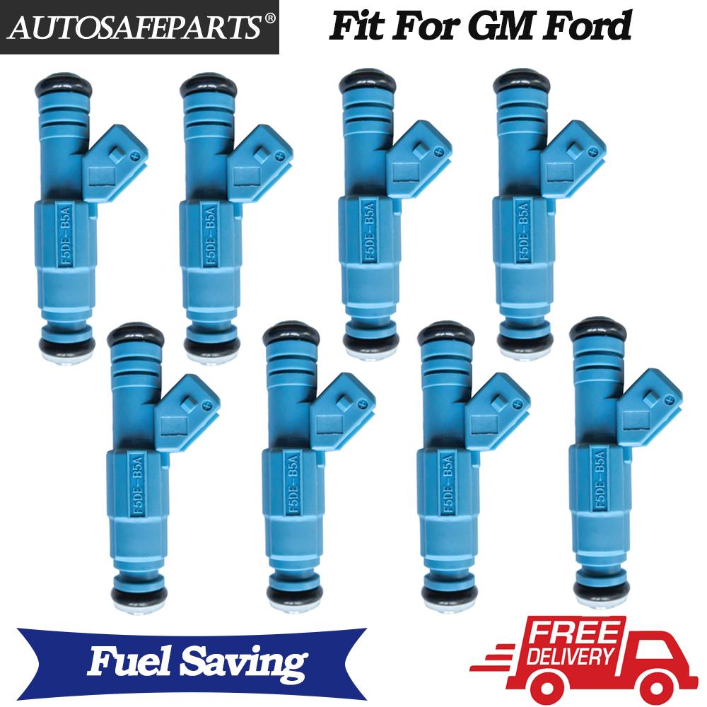 New 8 pcs 24lb Fuel Injectors For Chevrolet Ford Pontiac LS1 LT1 5.0L 5.7L 250cc