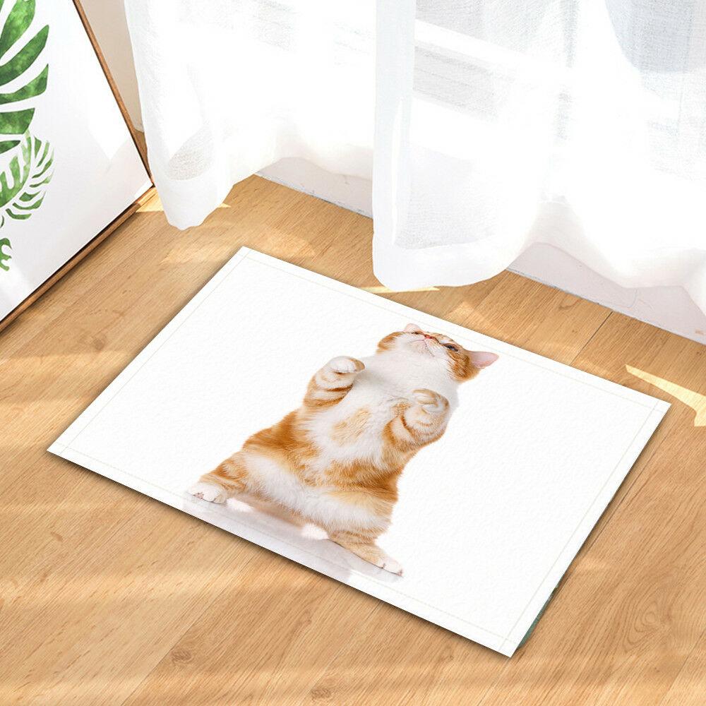 Cute Cat In The Bathtub Non-Slip Outdoor Indoor Front Door Mat bathroom 40x60cm