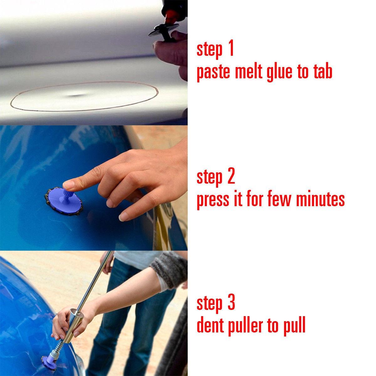 Autos Dent Repair Tools Kit T Bar Slide Hammer Glue Dent