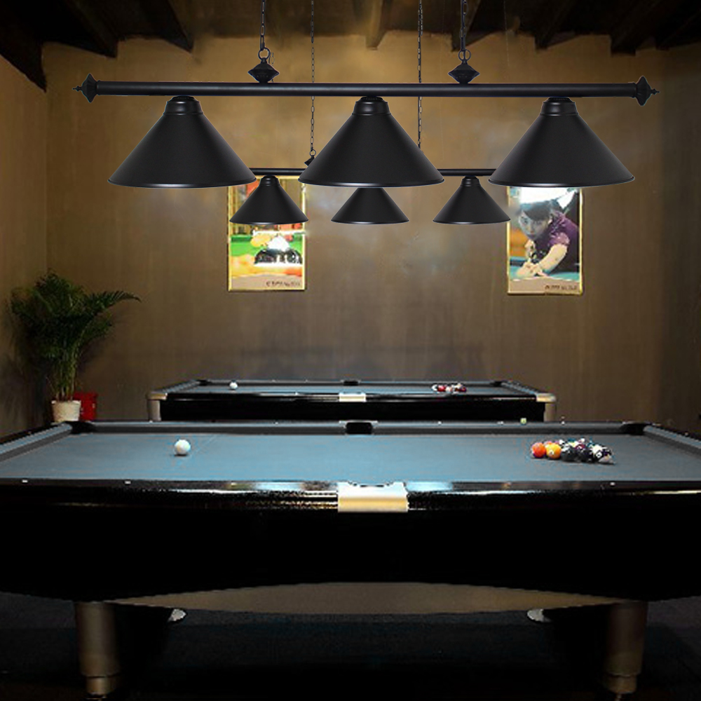 "Pool Table Light Black: 59"" Modern Pool Table Light Fixture Hanging Billiard"