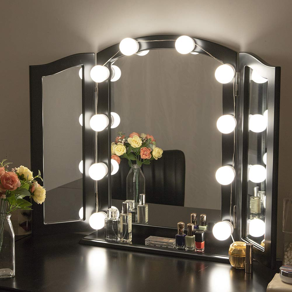 Chende Tabletop Tri-fold Vanity Mirror Large 3 Way Makeup ...