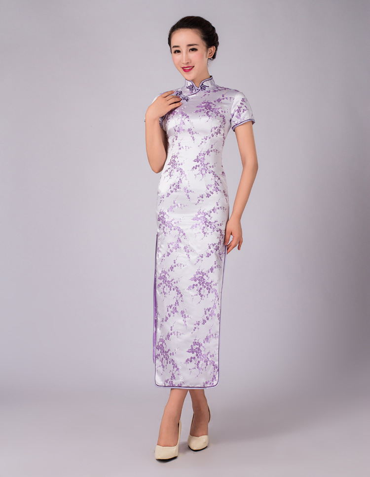 Womens lady cheongsam chinese qipao wedding party cocktail for Ebay china wedding dress