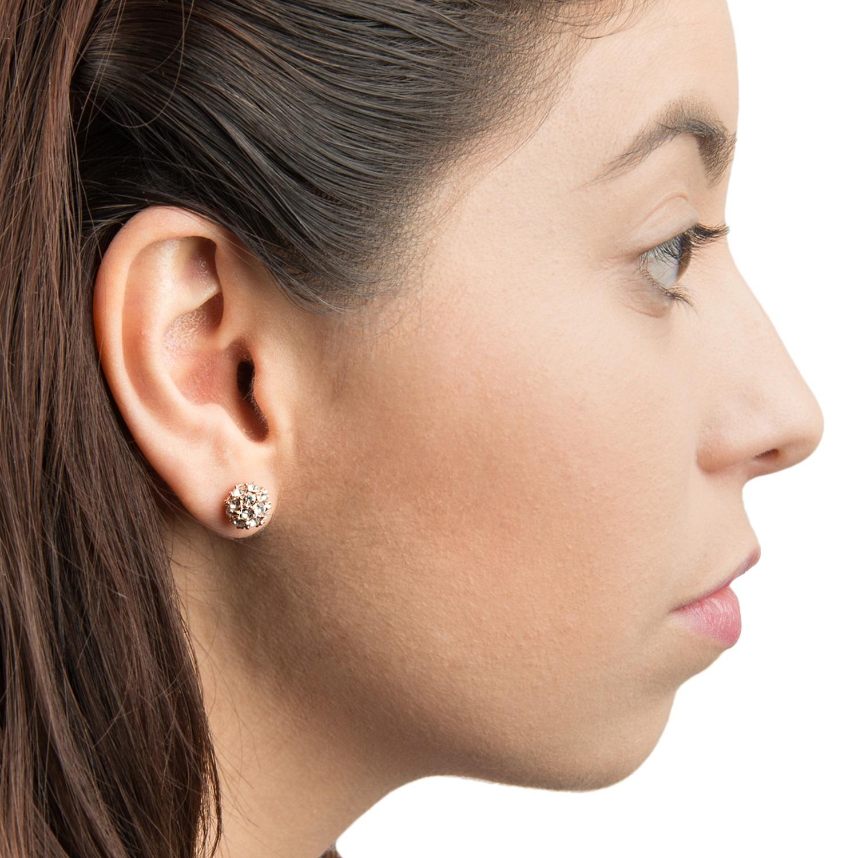 Fashion Women Diamond Earring Luxury Crystal Ball Design Lady Ear