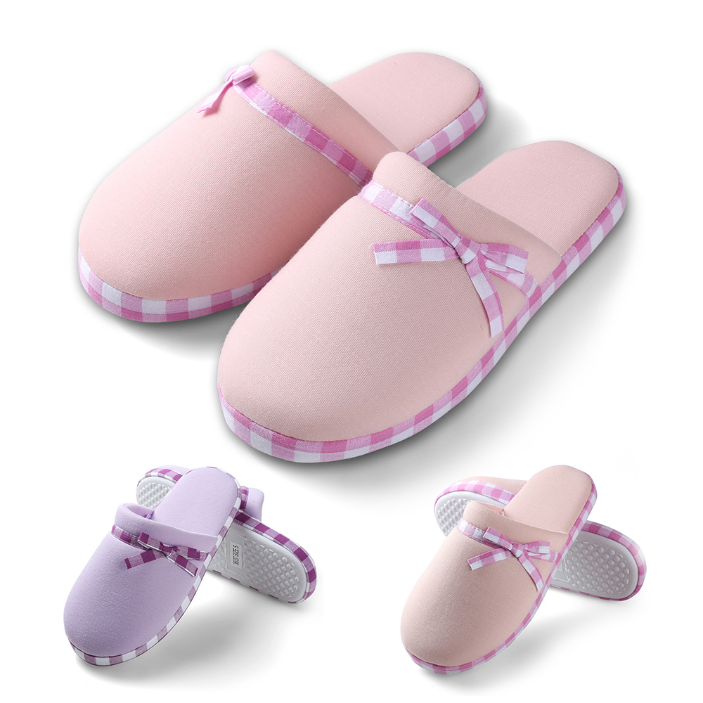 Aerusi Women Cozy House Indoor Winter Warm Slippers Soft Anti-Slip Cotton Shoes