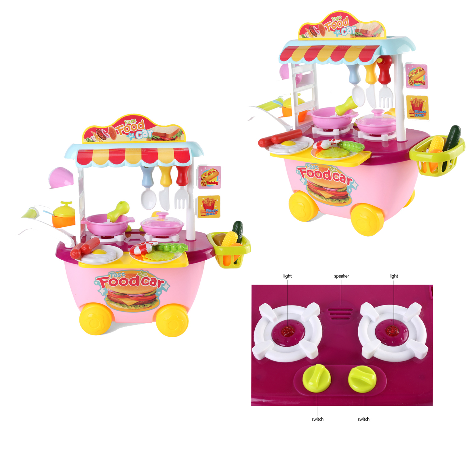 Kids Kitchen Playset Toy Pretend Play Set Cooking Food Toy for Girls ...