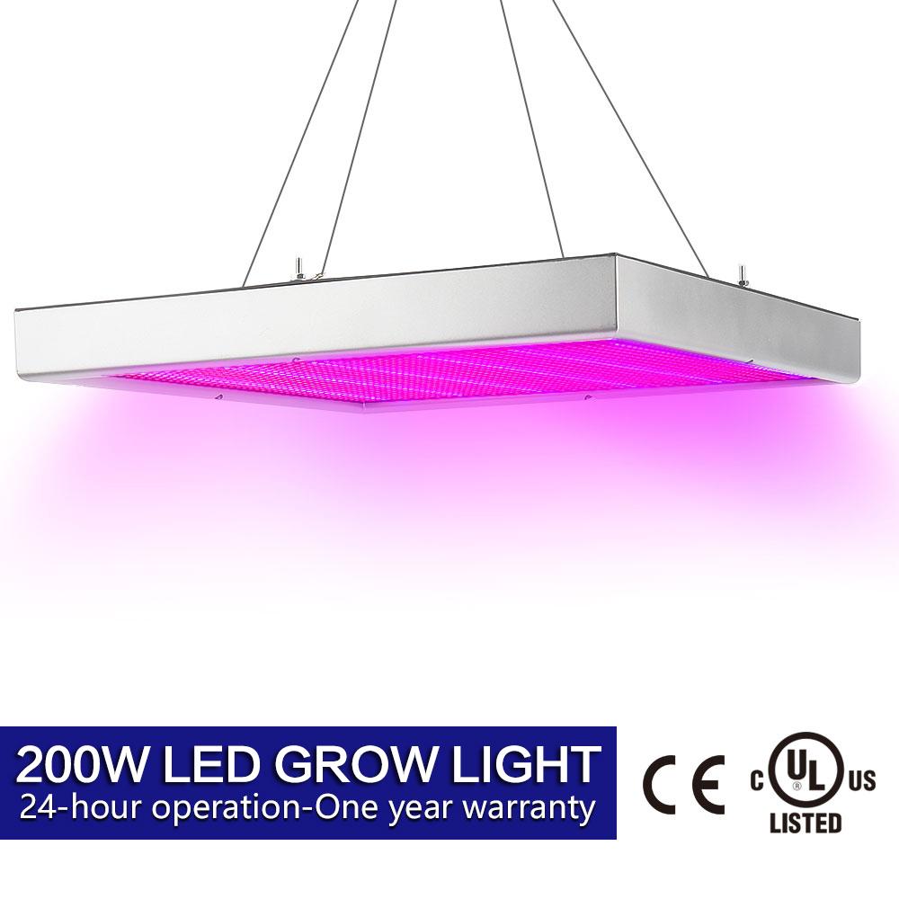 200W LED Grow Light Lampe Wachsen Blühen Licht Vollspektrum Pflanze ...