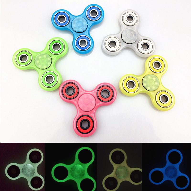 Hand Spinner Tri Fidget LED Light Focus Tool Desk Toy EDC Stocking Stuffer
