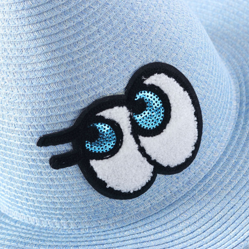summer cute big eye wizard hat foldable beach parent children anti