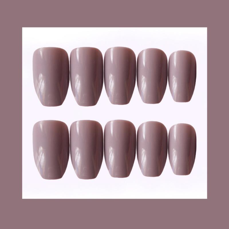 24x-Acrylic-Fake-False-French-Nails-Full-Cover-Nude-Black-Pink-Nail-Tips-Art-DIY thumbnail 12