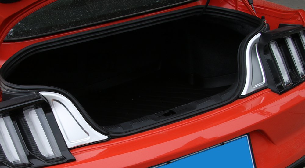 Exterior Rear Trunk Plate Panel Trim Accessories Guard Cover For Ford Mustang #B