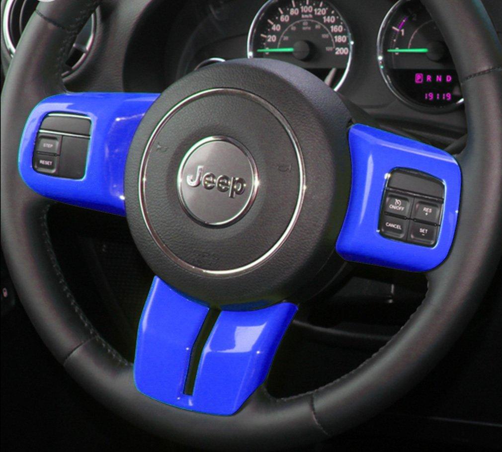 12x Blue Interior Car Accessories Decoration Trim For Jeep