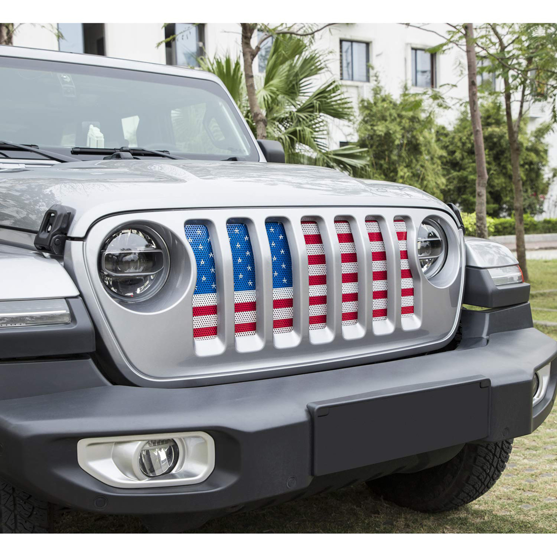 Front Grille Guard Mesh Insert Hood Grill Screen For 2018