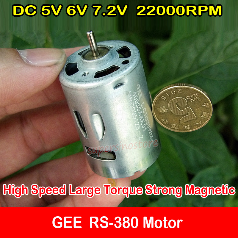 DC 6V 7.2V 22000RPM High Speed Large Torque Magnetic 380 Motor RC Car Boat Toy